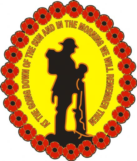 "Poppy Car Window Sticker ""We Will Remember Them"""